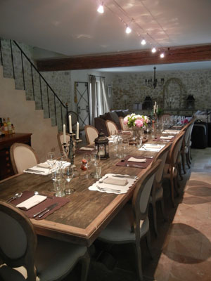 My Journey-Table set for dinner in Provence, 2012